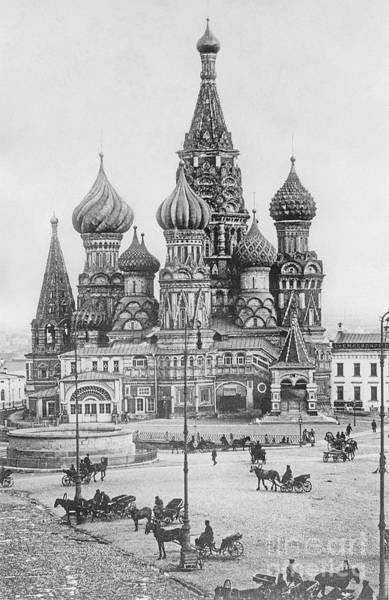 Wall Art - Photograph - The Cathedral Of St Basil The Blessed On The Red Square In Moscow, Photo by Russian Photographer