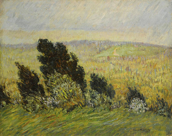 Wall Art - Painting - The Cedar Hedge, Spring Breezes And Rains by Marsden Hartley
