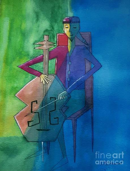 Painting - The Cellist by Lorraine Germaine