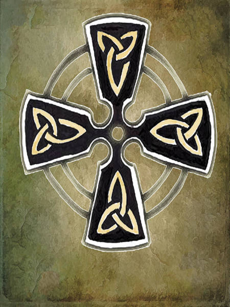 Eire Digital Art - The Celtic Cross  by Kandy Hurley