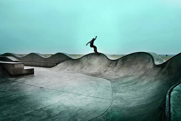 Skateboard Photograph - The Cement Wave by Jason Moskowitz Photography