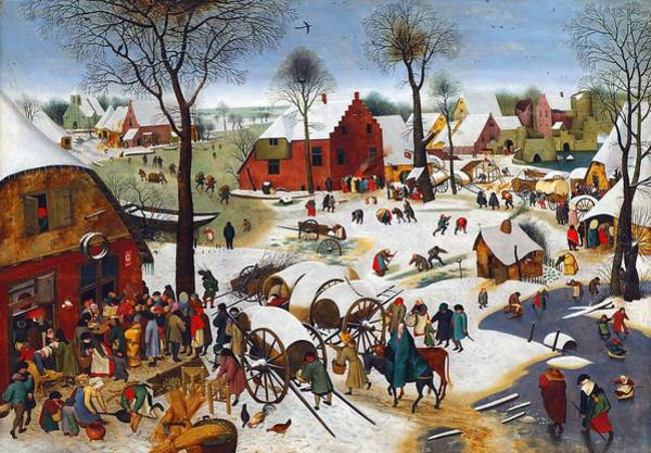 Census Painting - The Census At Bethlehem by Pieter Brueghel the Younger