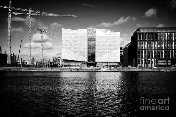 Wall Art - Photograph - The Central Bank Of Ireland Head Office On New Wapping Street And 1 Dublin Landings North Wall Quay  by Joe Fox