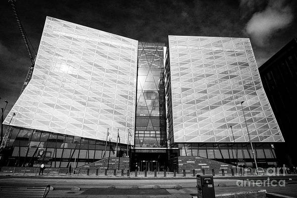 Wall Art - Photograph - The Central Bank Of Ireland Head Office On New Wapping Street North Wall Quay Dublin Republic Of Ire by Joe Fox