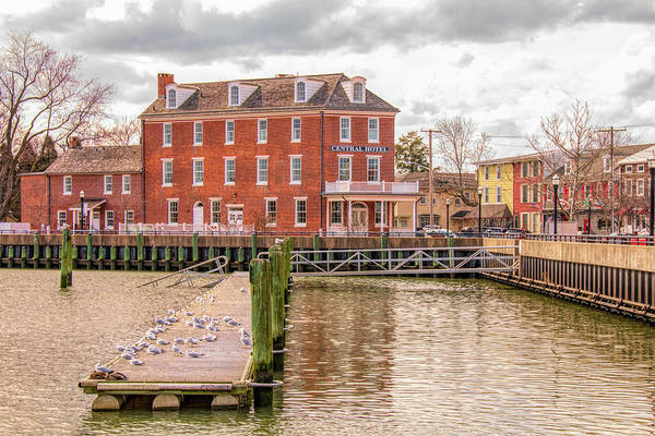 Photograph - The Central Hotel - Delaware City by Kristia Adams
