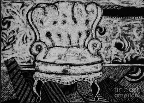 Drawing - The Chair. by Cindy Suter
