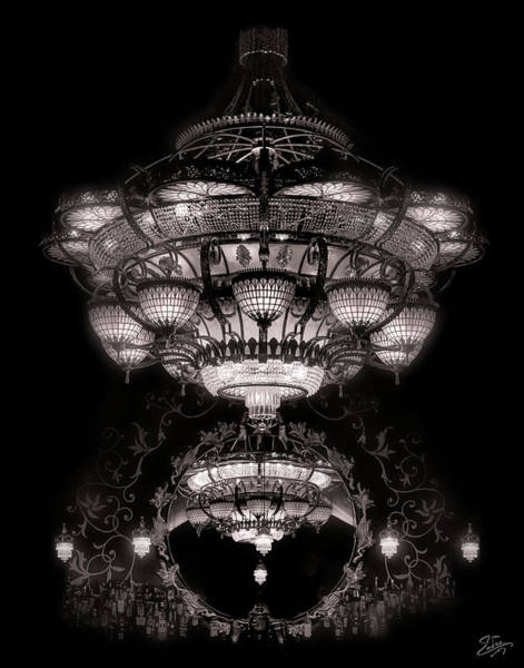 Photograph - The Chandelier At Romanov's by Endre Balogh