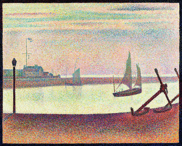 Wall Art - Painting - The Channel At Gravelines, Evening - Digital Remastered Edition by Georges Seurat