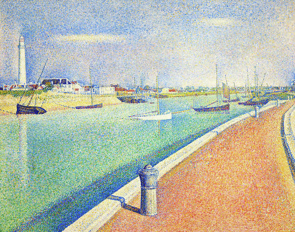Wall Art - Painting - The Channel Of Gravelines, Petit Fort Philippe - Digital Remastered Edition by Georges Seurat
