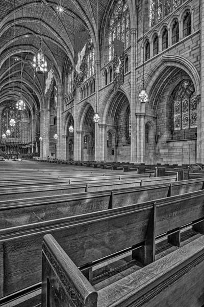 Photograph - The Chapel At Princeton University Bw by Susan Candelario