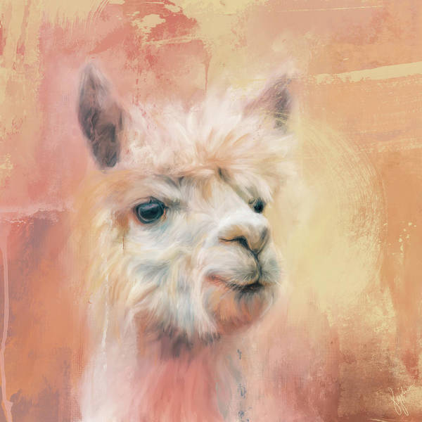 Alpaca Painting - The Charismatic Alpaca by Jai Johnson