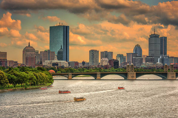 Photograph - The Charles, Duck Boats And Boston's Back Bay by Thomas Gaitley