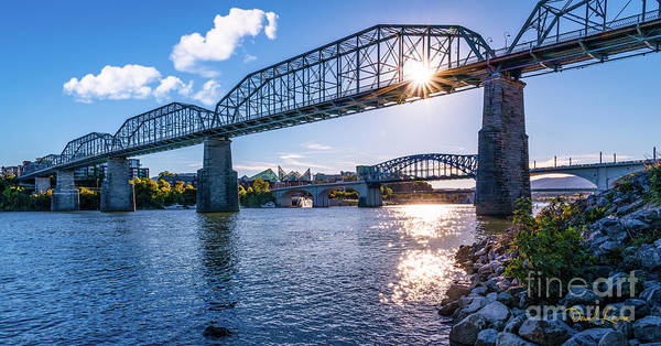 Photograph - The Chattanooga Walking Bridge by David Levin