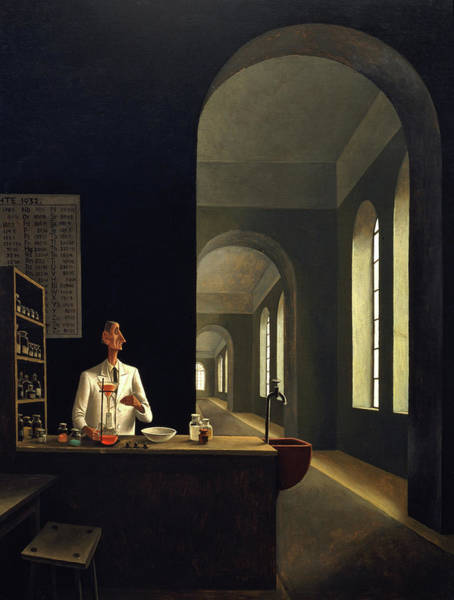 Experiment Painting - The Chemist by Franz Sedlacek