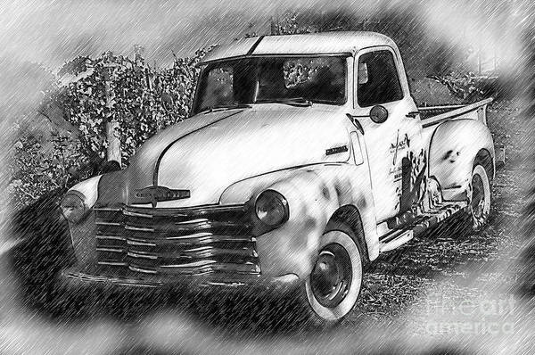 Digital Art - The Chevy Truck by Kirt Tisdale