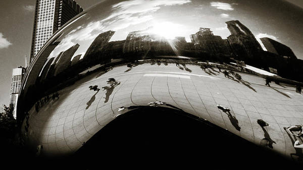 Photograph - The Chicago Bean Bw by Marilyn Hunt