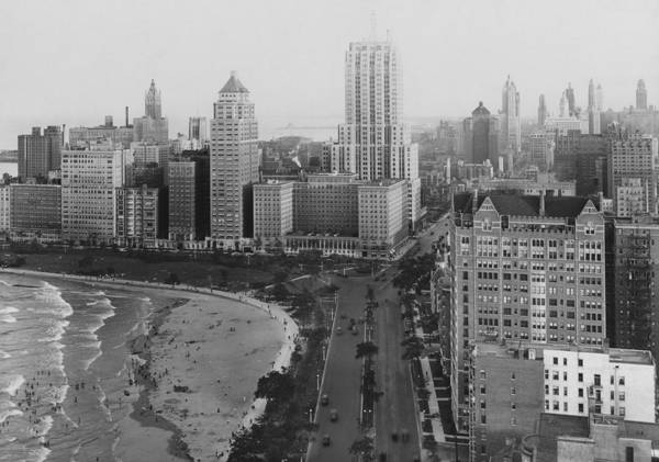 Lakeshore Photograph - The Chicago Skyline by Chicago History Museum