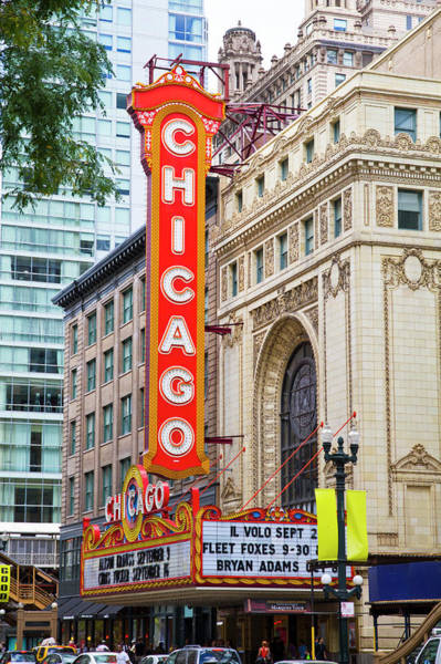 Outdoors Photograph - The Chicago Theatre by Photostock Israel