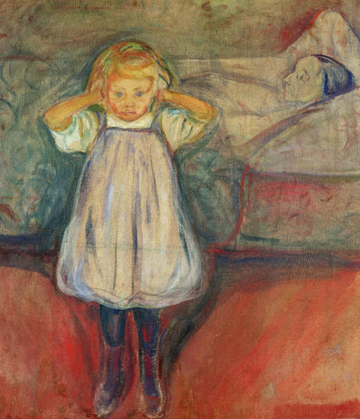 Wall Art - Painting - The Child And Death, 1899 by Edvard Munch