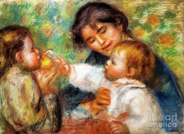 Painting - The Child With The Apple by Auguste Renoir