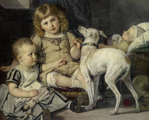 Wall Art - Painting - The Children Of The Artist, 1871 by Ernst Stuckelberg
