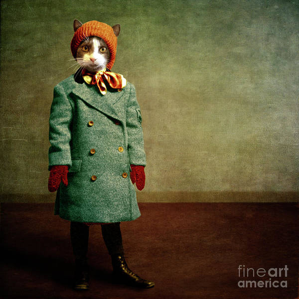 Wall Art - Digital Art - The Chilly Girl by Martine Roch