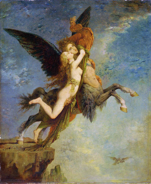 Wall Art - Painting - The Chimera - Digital Remastered Edition by Gustave Moreau