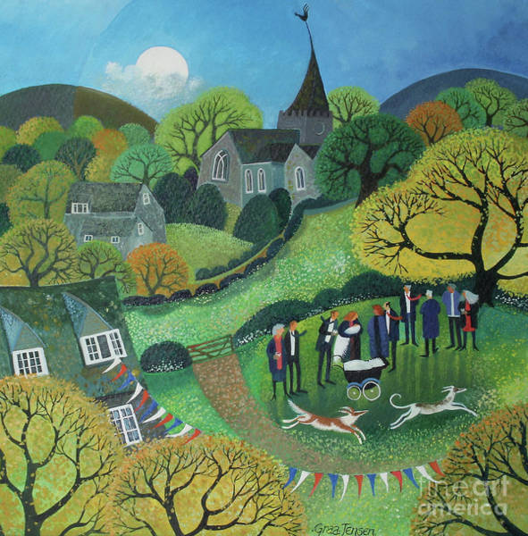 Wall Art - Painting - The Christening by Lisa Graa Jensen