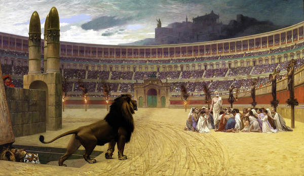 Wall Art - Painting - The Christian Martyrs' Last Prayer - Digital Remastered Edition by Jean-Leon Gerome