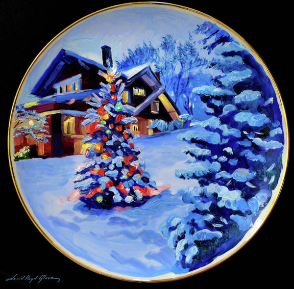 Painting - The Christmas House by David Lloyd Glover
