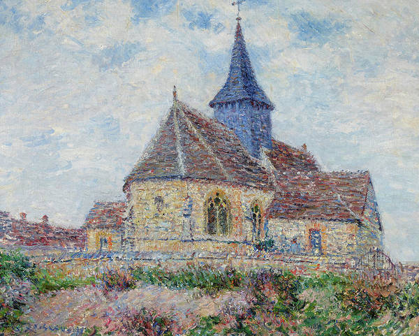 Wall Art - Painting - The Church Of Porte-joie In L'eure by Gustave Loiseau