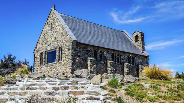 Photograph - The Church Of The Good Shepherd, New Zealand by Lyl Dil Creations