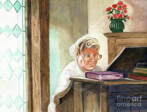 Painting - The Church Organist by Marilyn Smith