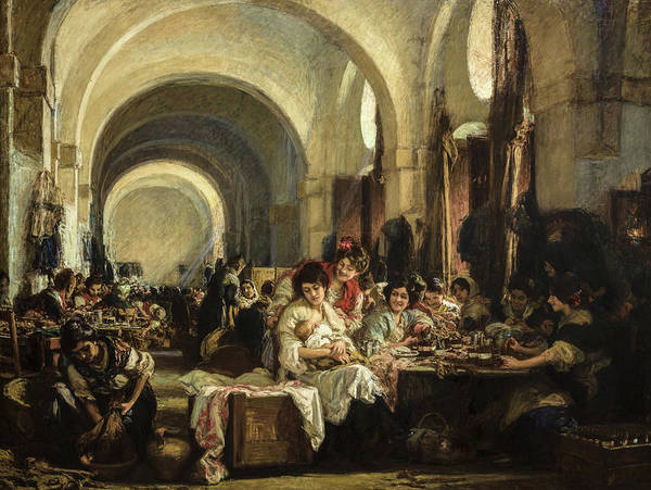 Wall Art - Painting - The Cigar Makers, 1915 by Gonzalo Bilbao