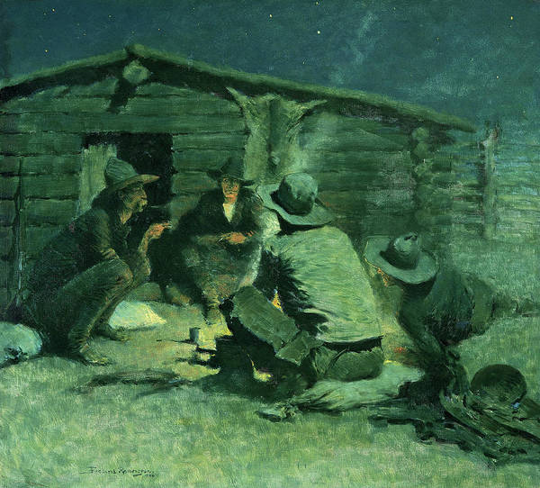 Wall Art - Painting - The Cigarette, 1908 by Frederic Remington
