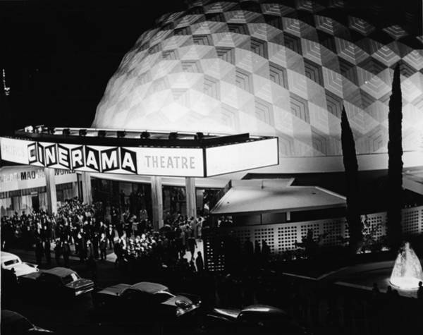 Crowd Photograph - The Cinerama Dome Theatre In Hollywood by American Stock Archive