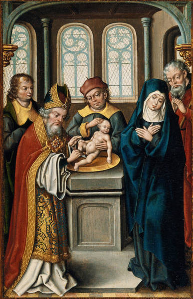 Wall Art - Painting - The Circumcision Of Christ by Jan Baegert