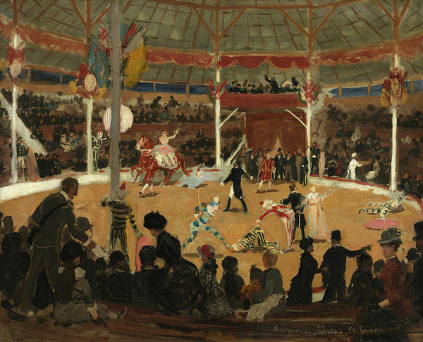 Wall Art - Painting - The Circus, 1889 by Suzanne Valadon