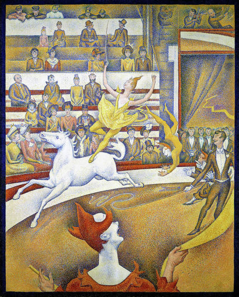 Wall Art - Painting - The Circus - Digital Remastered Edition by Georges Seurat