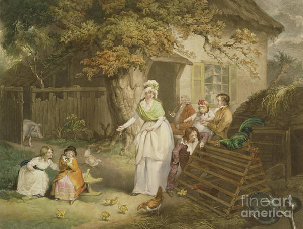 Ward Painting - The Citizens Retreat, 1796 by James Ward