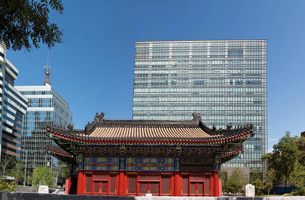 Chinese Pavilion Photograph - The City God Temple Of Beijing, China by Loonger