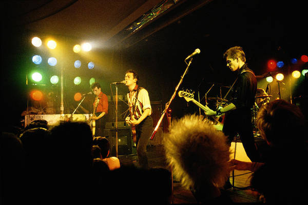 Wall Art - Photograph - The Clash On Stage by Steve Morley