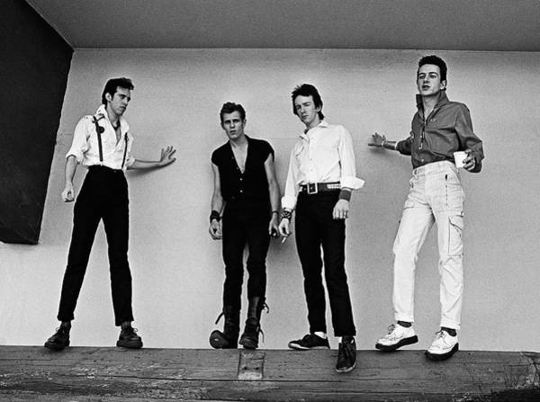 White Rose Photograph - The Clash Portrait Session by George Rose