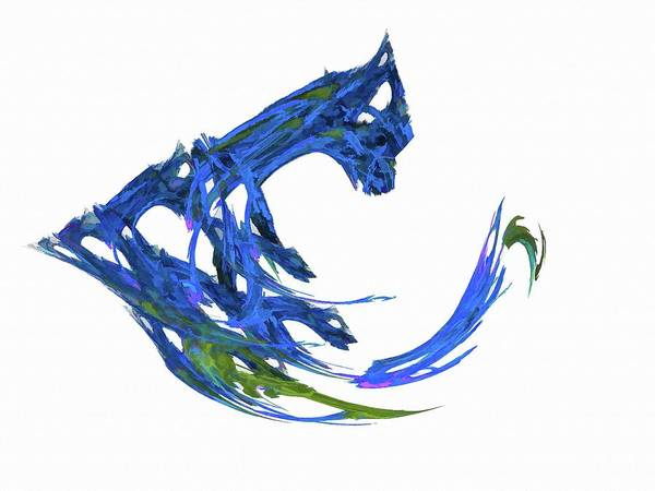 Digital Art - The Claw Blue by Don Northup