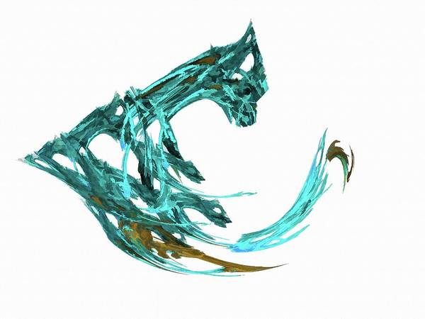 Digital Art - The Claw Light Blue by Don Northup