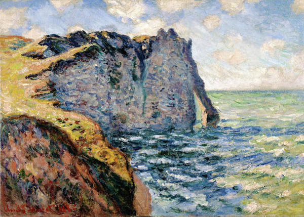 Bluffs Painting - The Cliff Of Aval, Etretat - Digital Remastered Edition by Claude Monet