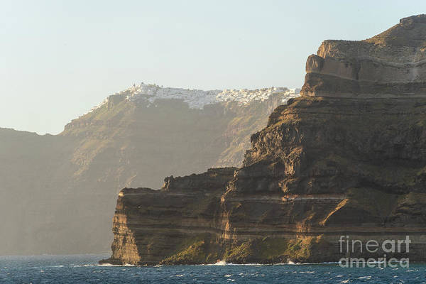 Photograph - The Cliff Of Santorini, Greece by Didier Marti