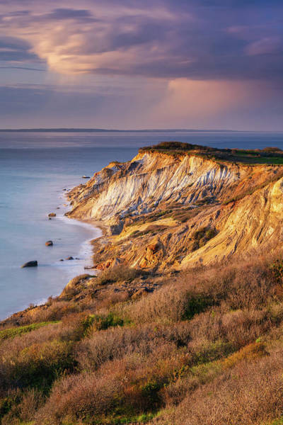 Photograph - The Cliffs At Aquinnah - Vertical by Michael Blanchette