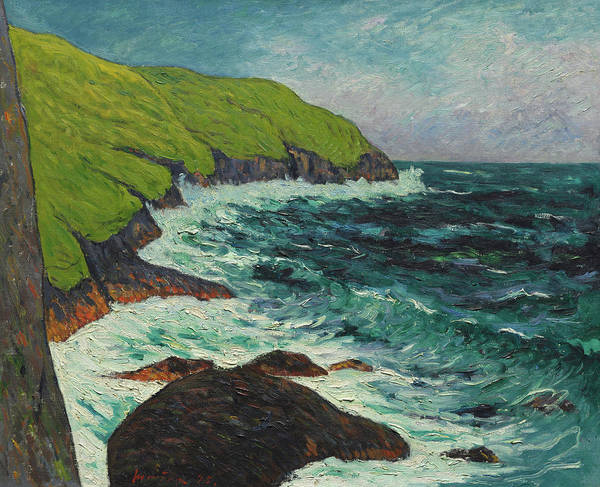 Wall Art - Painting - The Cliffs At Beg-ar-fry, Saint-jean-du-doigt, 1895 by Maxime Maufra