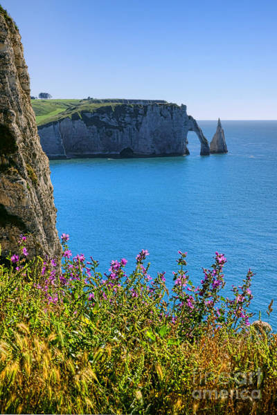 Wall Art - Photograph - The Cliffs Of Etretat by Olivier Le Queinec